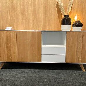 Sideboard Anrei Puro 219 (Eiche natur / MDF weiß)