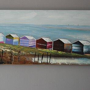 Bild W314 Häuser am Meer